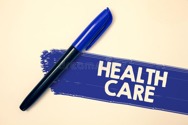 Здравоохранение текста сочинительства слова Концепция дела для медицинского улучшения обслуживания физических умственных сообщени стоковое изображение