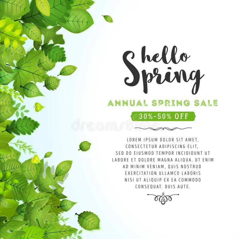 Здравствуйте! весна выходит предпосылка иллюстрация штока