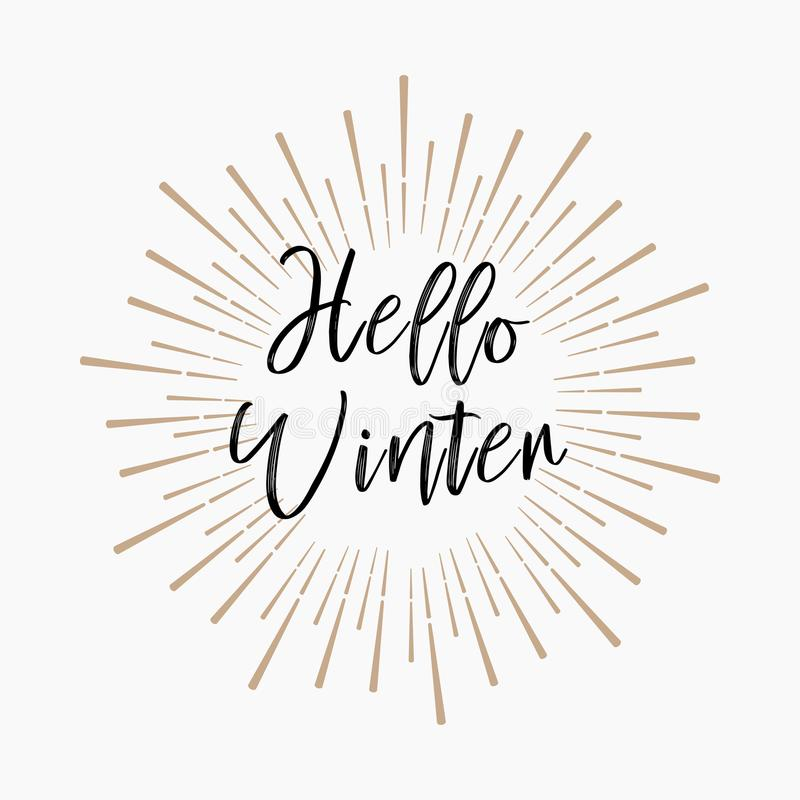 Здравствуйте! зима Предпосылка яркого блеска золота стоковое фото