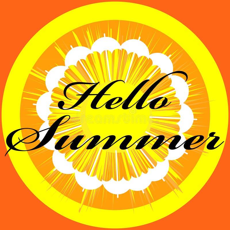 Здравствуйте! изображение лета изолированное на предпосылке цвета иллюстрация штока