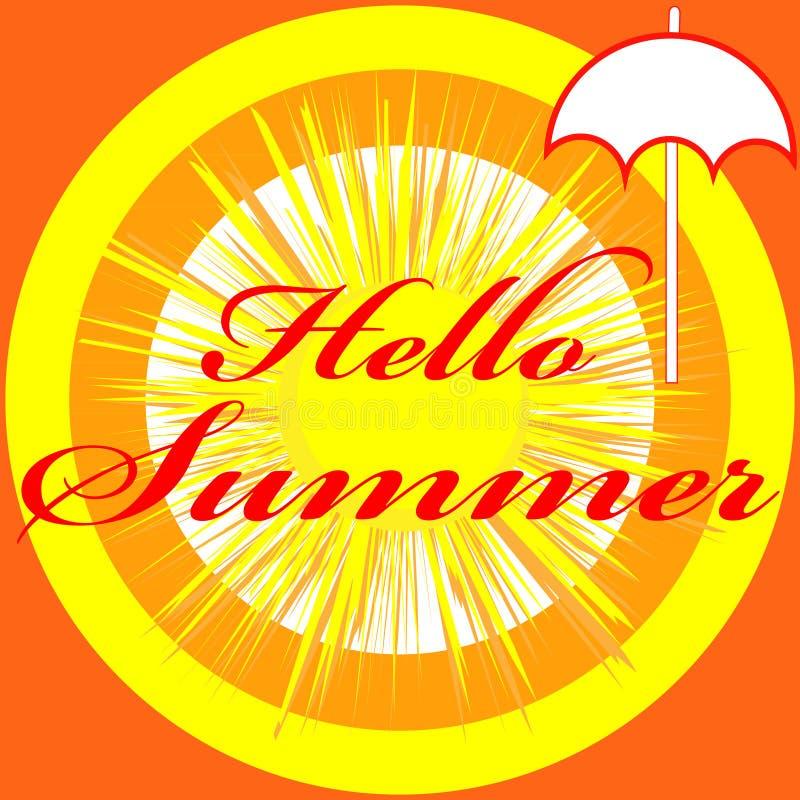 Здравствуйте! изображение лета изолированное на предпосылке цвета бесплатная иллюстрация