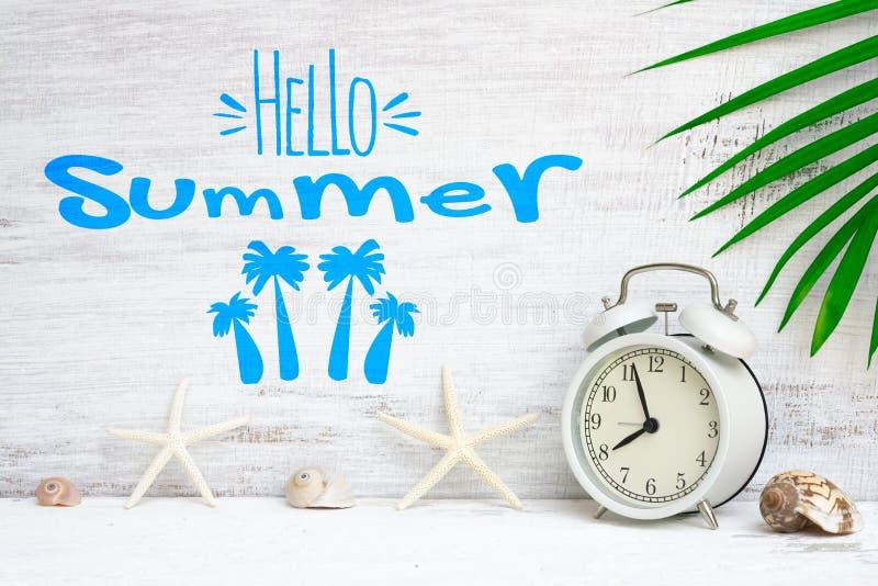 Здравствуйте концепция предпосылки лета на каникулы праздника лета Абстрактная предпосылка для концепции каникул перемещения пляж стоковые изображения