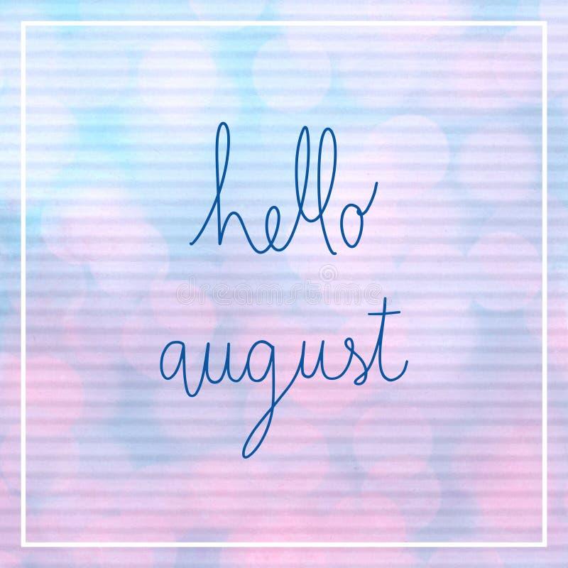 Здравствуйте! литерность в августе с светом bokeh бесплатная иллюстрация