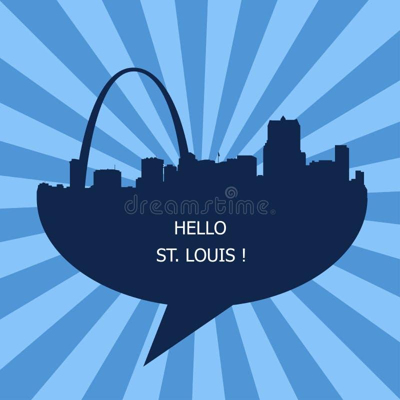 Здравствуйте Сент-Луис, перемещение к США иллюстрация штока