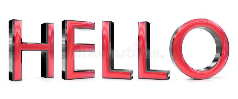 Здравствуйте! слово иллюстрация вектора