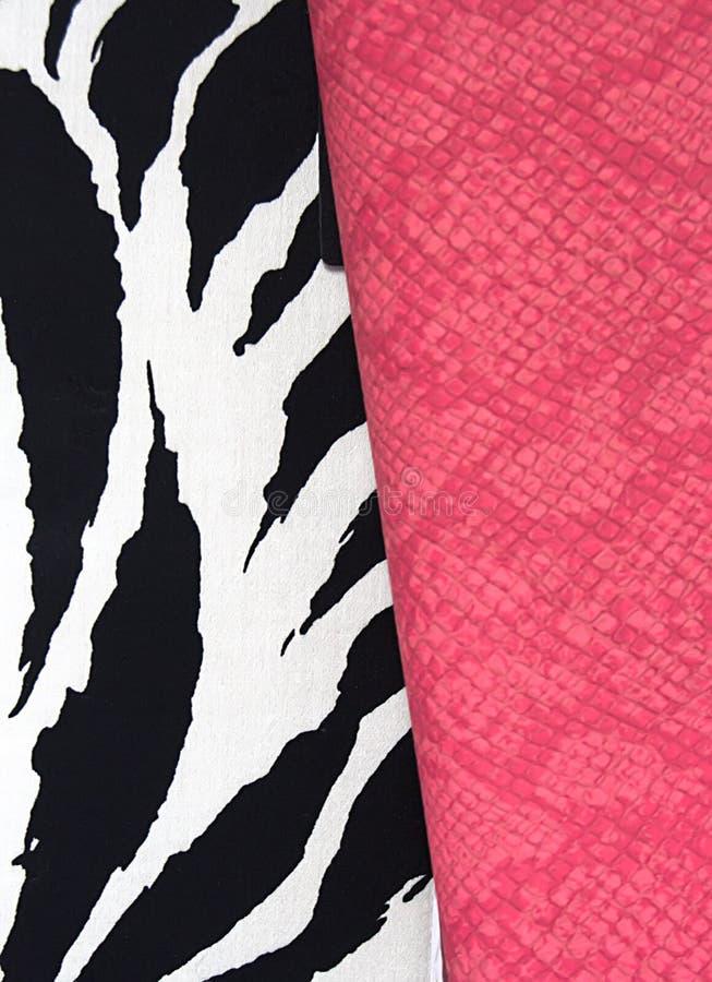 зебра мешка кожаная розовая стоковое фото rf