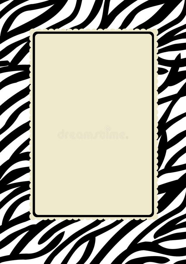 зебра печати рамки иллюстрация вектора