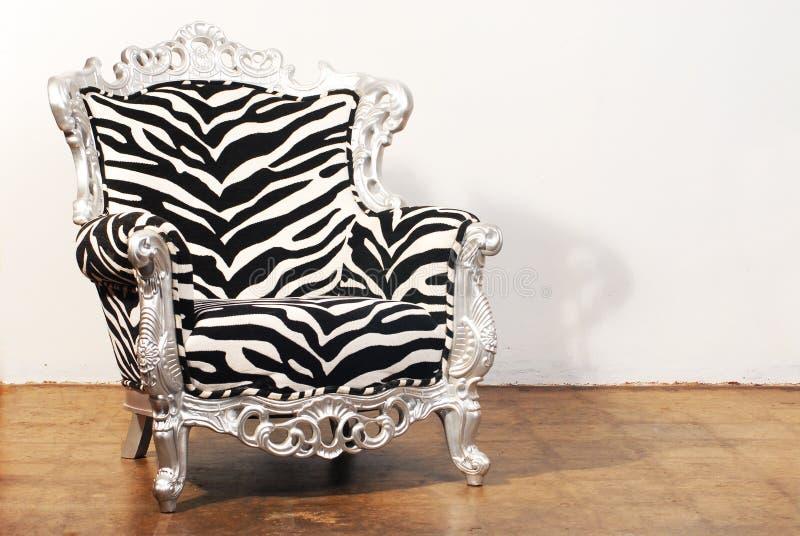 зебра стула стоковая фотография rf