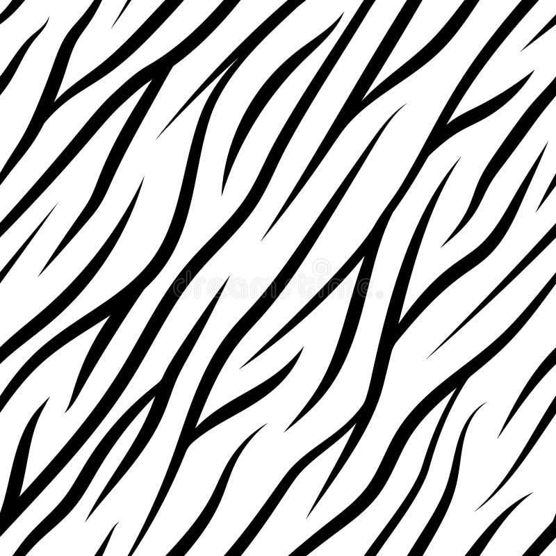 Зебра Stripes безшовная картина стоковая фотография rf
