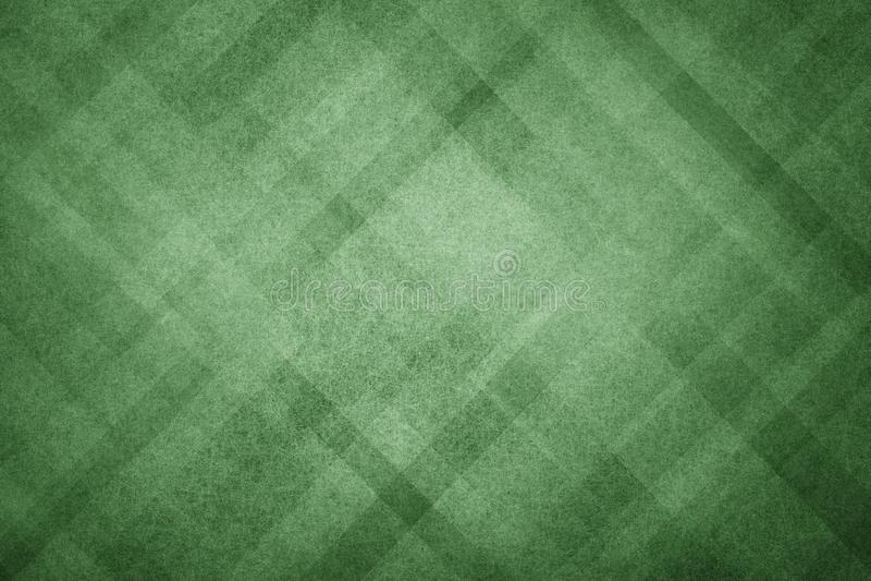 Зеленая абстрактная предпосылка с современным геометрическим дизайном картины и старой увяданной винтажной текстурой в темном цве иллюстрация вектора