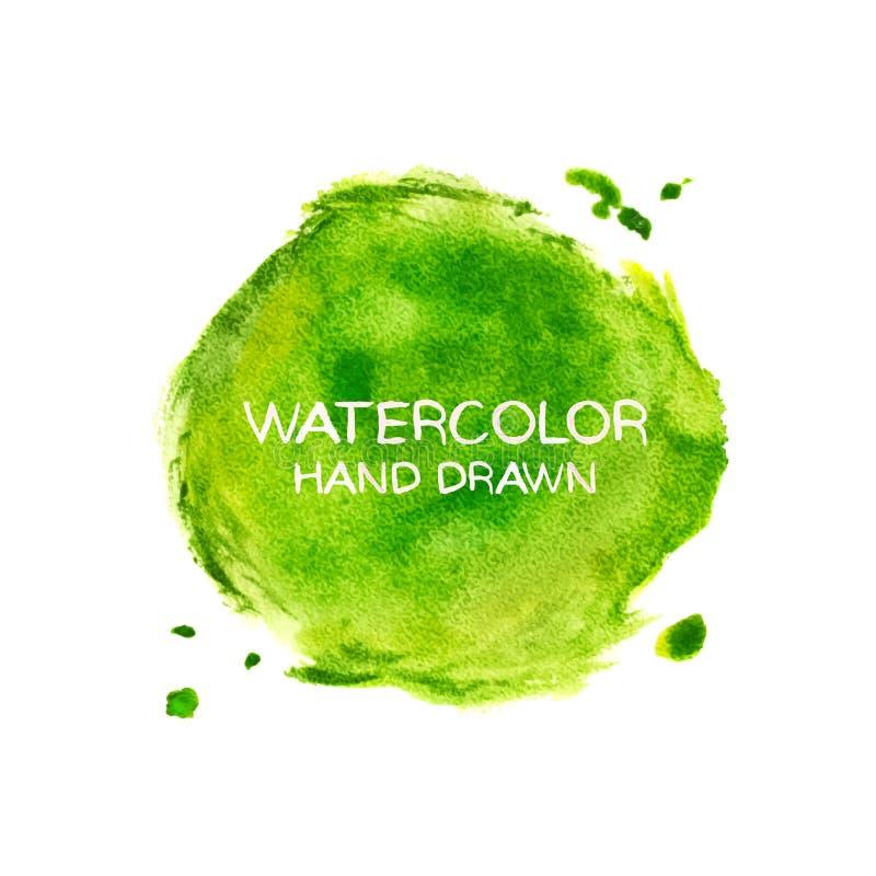 Зеленая абстрактная предпосылка aquarelle Пятна акварели руки вычерченные, брызгают и падают бесплатная иллюстрация