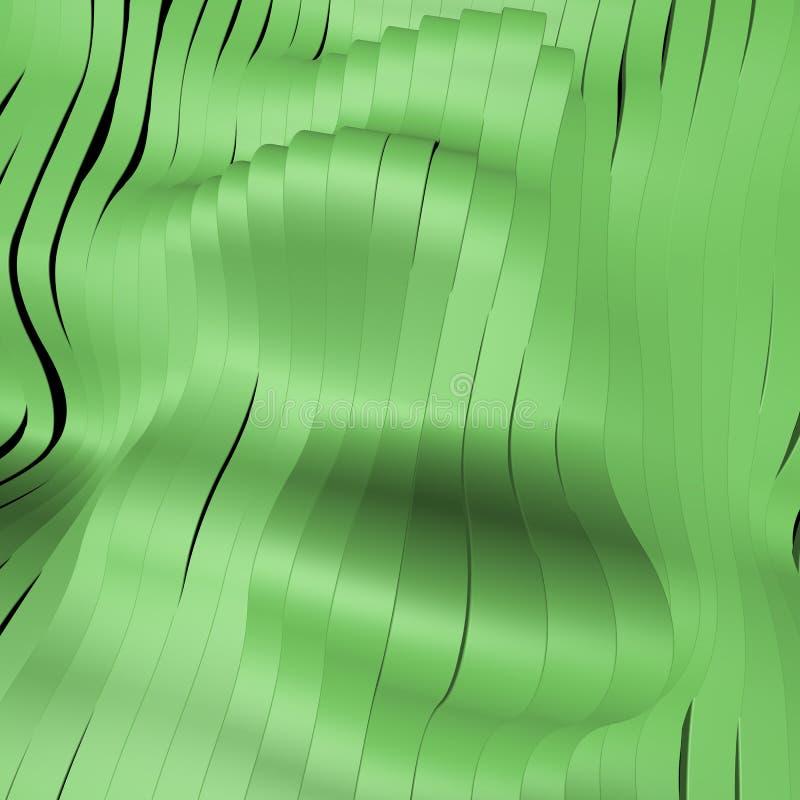 Зеленая абстрактная серебряная иллюстрация предпосылки 3d картины нашивки бесплатная иллюстрация