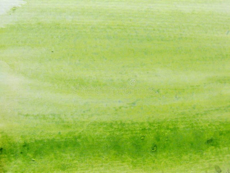 зеленая акварель 3 стоковое фото
