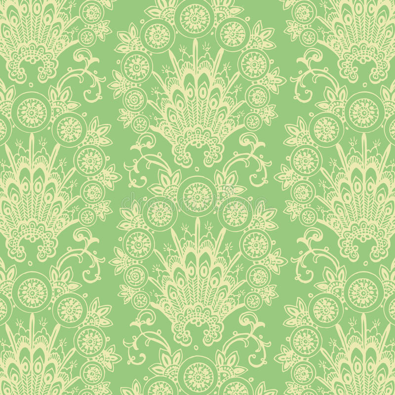 Зеленая античная предпосылка цветка сбора винограда бесплатная иллюстрация