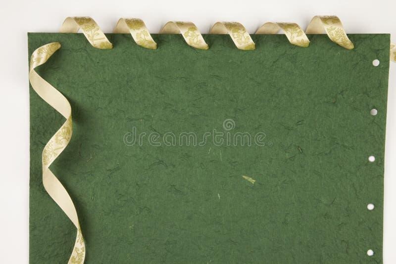 зеленая бумага примечаний стоковое изображение rf