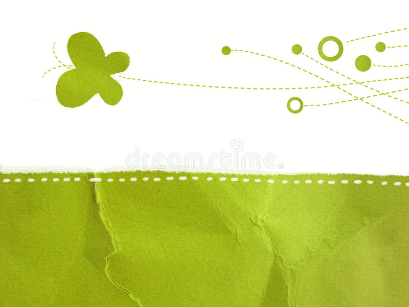 зеленая бумага иллюстрация штока