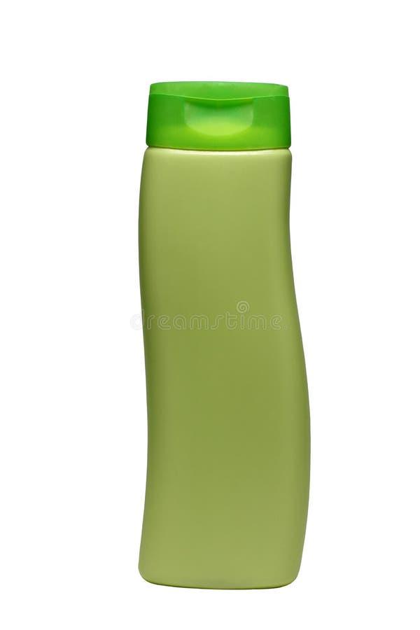 Зеленая бутылка трубки шампуня, проводника, rinse волос, изолированного геля стоковое фото