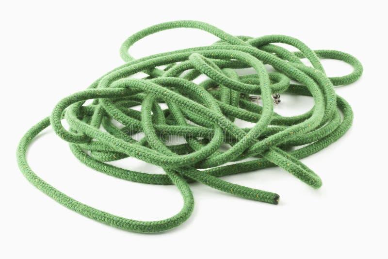 зеленая веревочка стоковое изображение rf