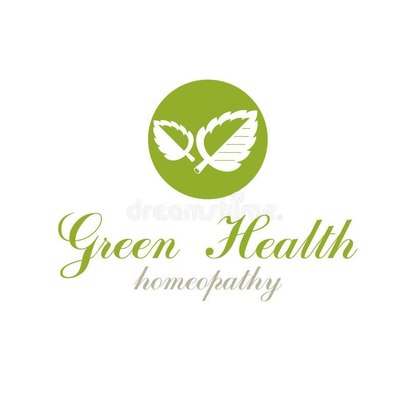 Зеленая весна выходит символ векторной графики для пользы в здравоохранение иллюстрация вектора