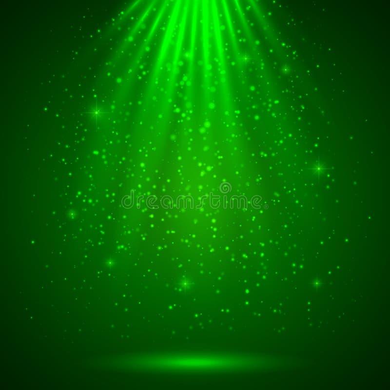 Зеленая волшебная светлая абстрактная предпосылка бесплатная иллюстрация