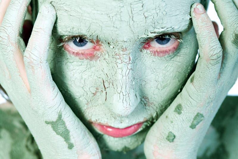 зеленая головка рук стоковая фотография rf