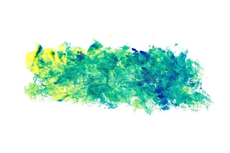 Зеленая голубая картина brushstroke акварели изолированная на белой предпосылке бесплатная иллюстрация
