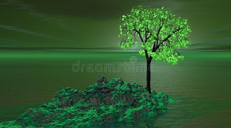 зеленая гора иллюстрация вектора