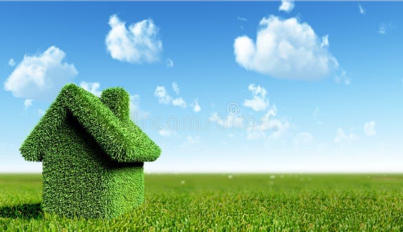 зеленая дом бесплатная иллюстрация