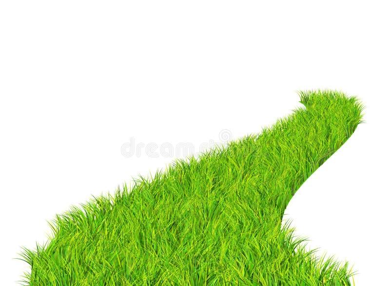 зеленая дорога иллюстрация вектора