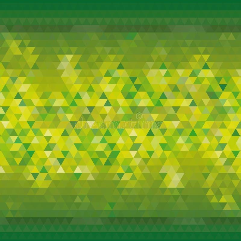 Зеленая желтая триангулярная предпосылка для рекламировать современный дизайн обоев - Vektorgrafik иллюстрация вектора
