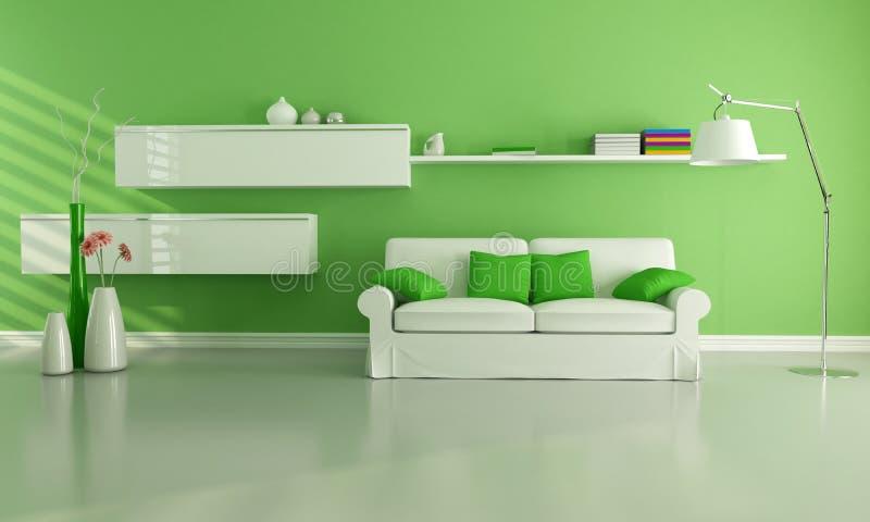Download зеленая живущая комната иллюстрация штока. иллюстрации насчитывающей цветок - 17618257