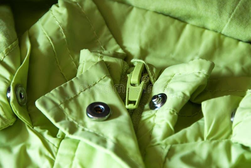 зеленая застежка -молния стоковые фотографии rf