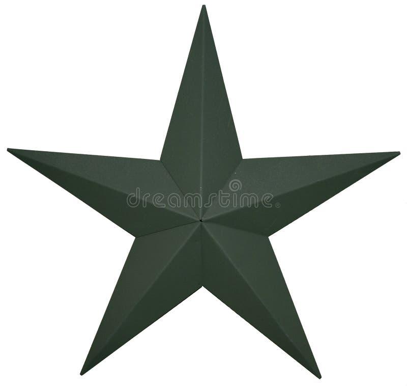 зеленая звезда стоковая фотография