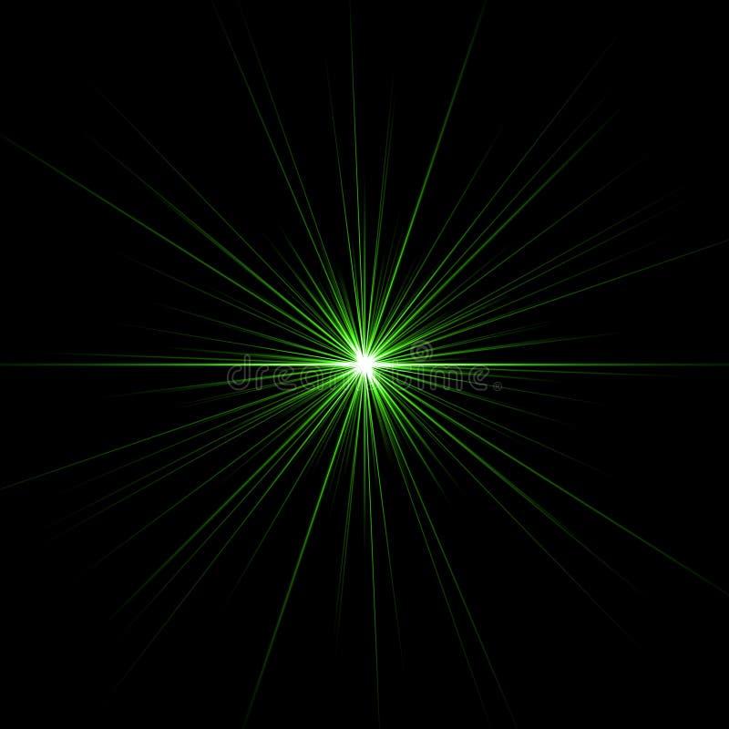 зеленая звезда иллюстрация вектора