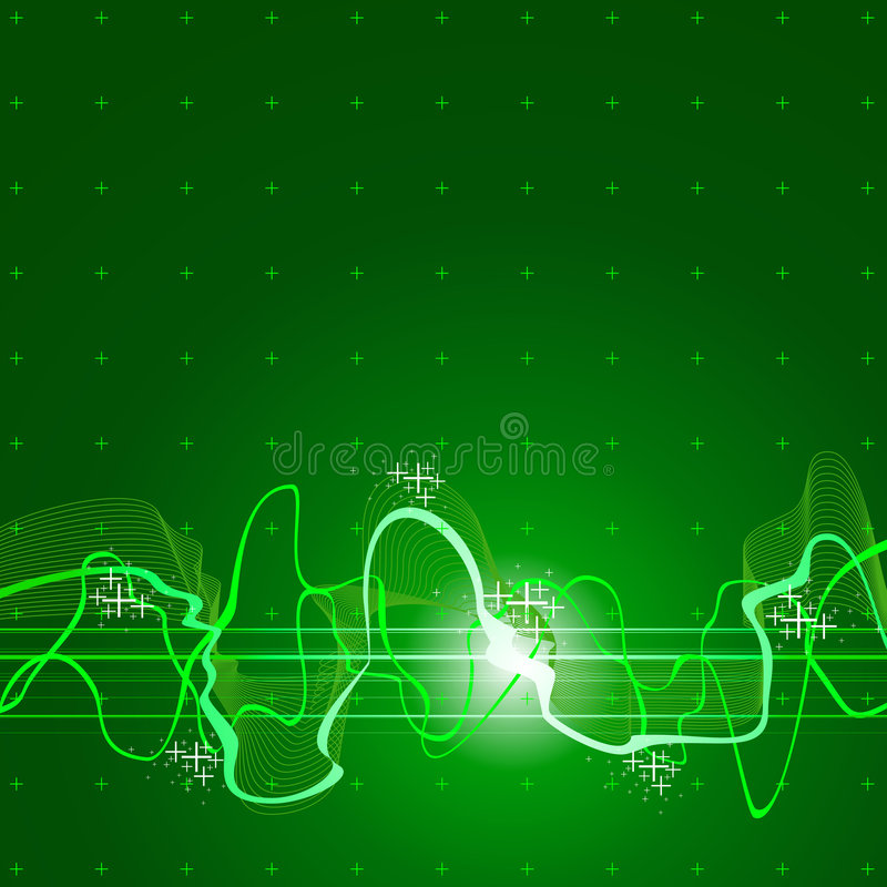 зеленая звуковая война Стоковые Изображения