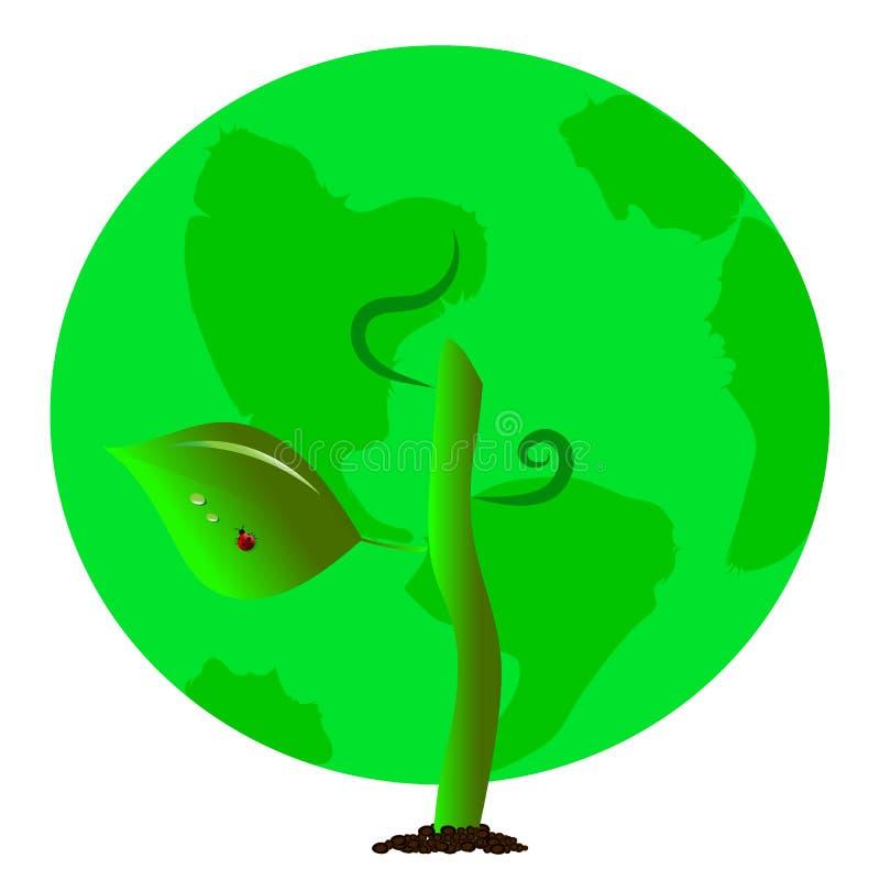 Зеленая земля планеты в форме кроны дерева стоковые фото