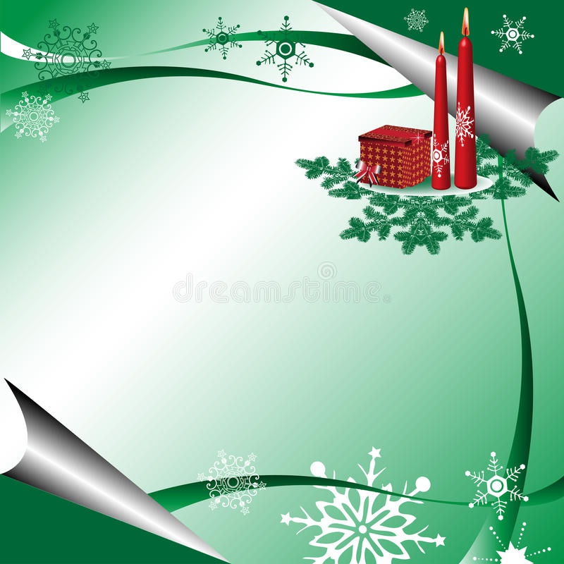 зеленая зима приветствию иллюстрация вектора