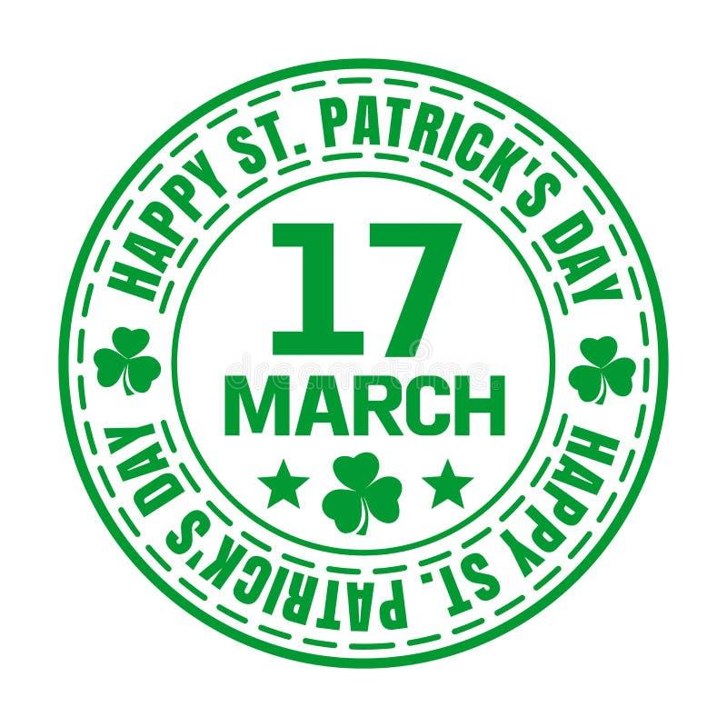 Зеленая избитая фраза на день St Patricks бесплатная иллюстрация