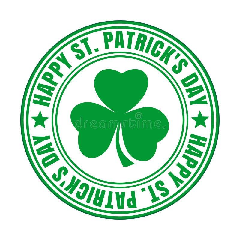 Зеленая избитая фраза - счастливый день St Patricks бесплатная иллюстрация