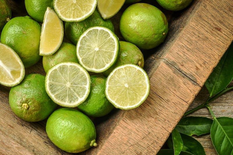 Зеленая известка для чая или пищевого ингредиента лимона стоковые фото