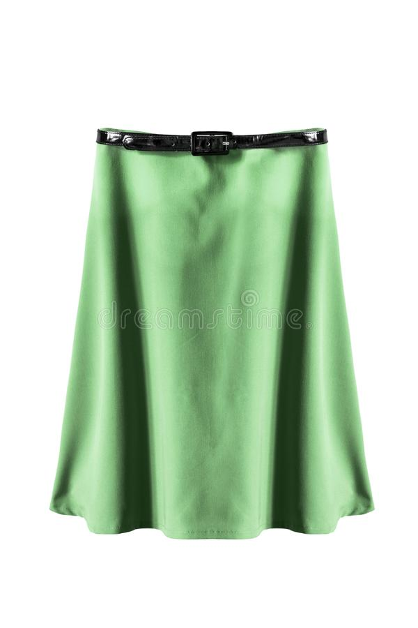 Зеленая изолированная юбка стоковые фото