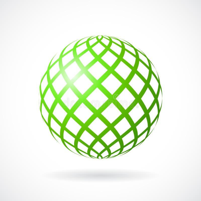 Зеленая икона вектора сферы иллюстрация штока