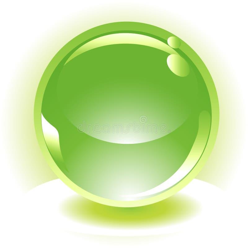 Зеленая икона вектора сферы иллюстрация вектора