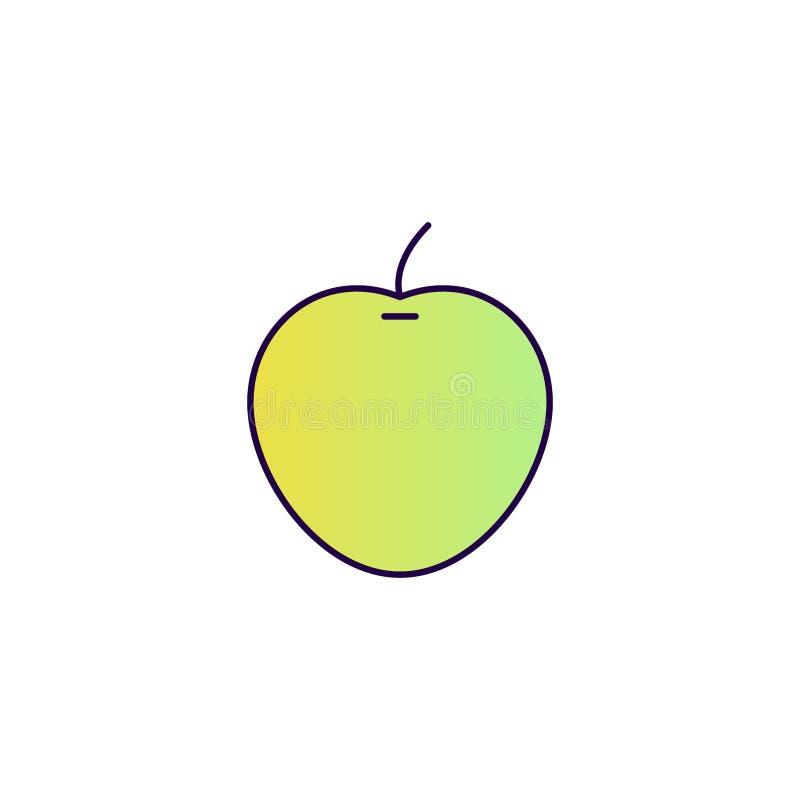 Зеленая икона яблока бесплатная иллюстрация