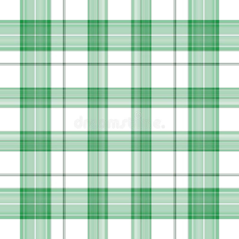 зеленая ирландская шотландка иллюстрация вектора