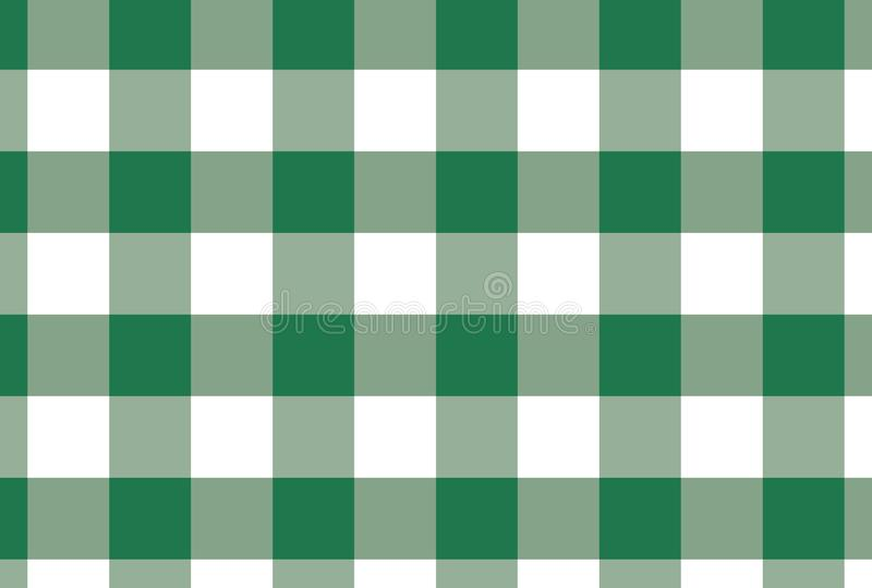 Зеленая и белая предпосылка вектора шотландки также вектор иллюстрации притяжки corel стоковое фото rf