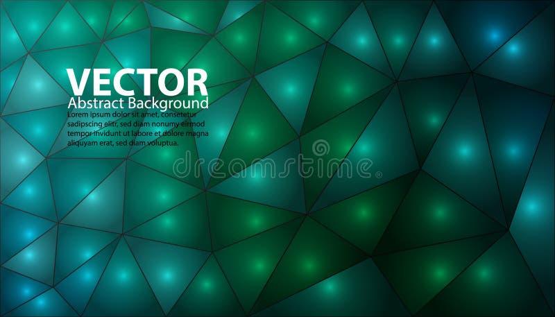 Зеленая и голубая абстрактная предпосылка - яркая иллюстрация вектора с светлыми точками иллюстрация штока