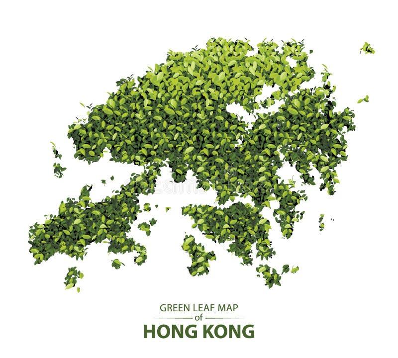 Зеленая карта лист Гонконга бесплатная иллюстрация