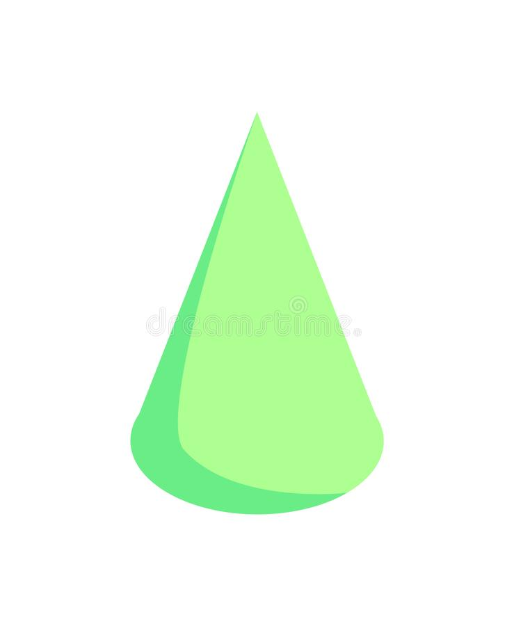 Зеленая картина конуса, красочная иллюстрация вектора иллюстрация вектора