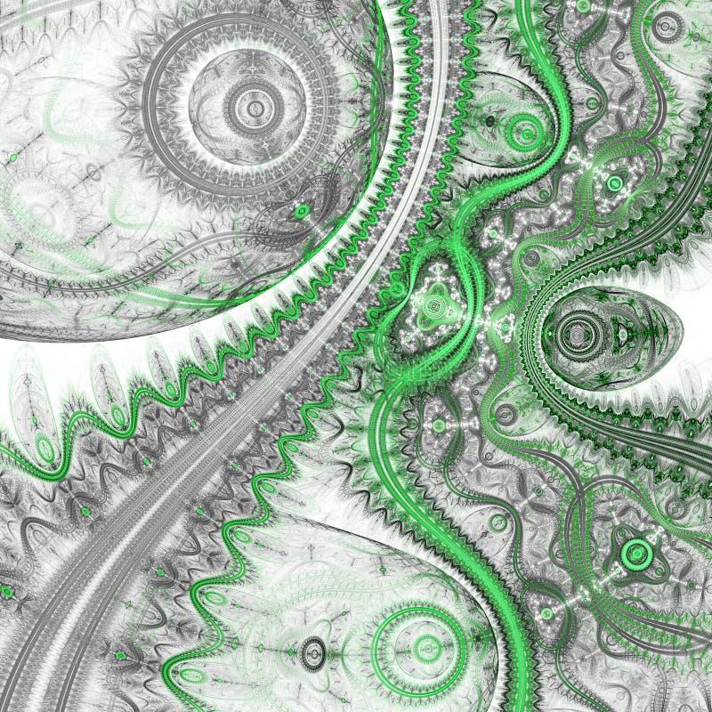 Зеленая картина clockwork фрактали бесплатная иллюстрация